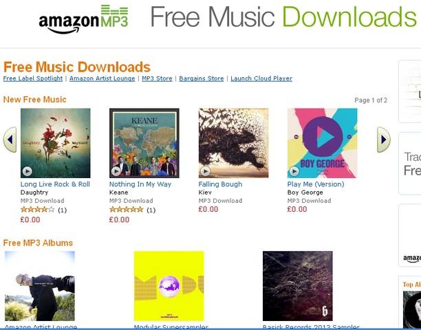 Безплатни песни в MP3 формат от Amazon.uk