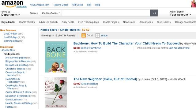 Безплатни книги от Amazon